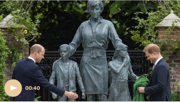 Princes William and Harry Unveil Princess Diana's Statue, but Kate Middleton Was Absent