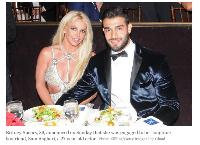 Britney Spears Gets Engaged Sam Asghari as Father Steps Down From Conservatorship